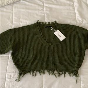 Women's crop top sweater